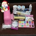 BTT-70 9 Вт УФ сушилка лампы 18 цвет Акриловый Порошок и 6 цветов блеск порошок Ногтя Комплект, nail art tools kit + бесплатная доставка