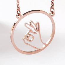 Hollow hand gesture necklace Sign Language I Love You  Swear Okay Hand Gestures Necklace Sister Best Friends