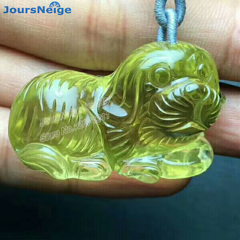 Wholesale Yellow Natural Crystal Pendants Hand Carved Dog Pendant Sweater Chain Necklace Lucky for Women Men Wealth Jewelry Wholesale Yellow Natural Crystal Pendants Hand Carved Dog Pendant Sweater Chain Necklace Lucky for Women Men Wealth Jewelry