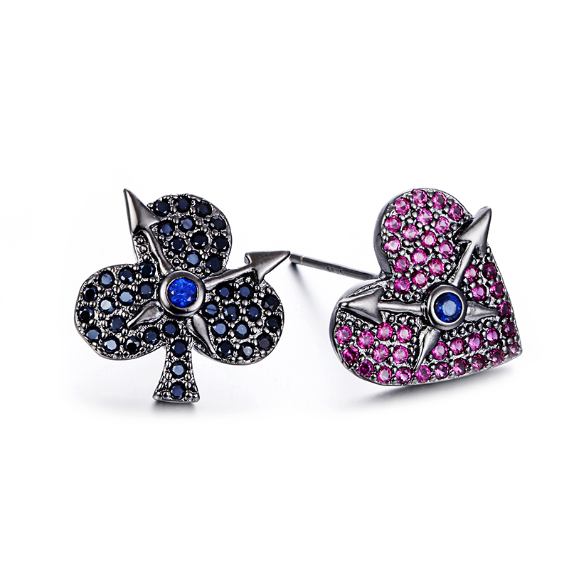 198a9453c Online Shop 100% 925 sterling silver black love tree shiny crystal  ladies`stud earrings wholesale Anti allergy female Valentine gift    Aliexpress Mobile