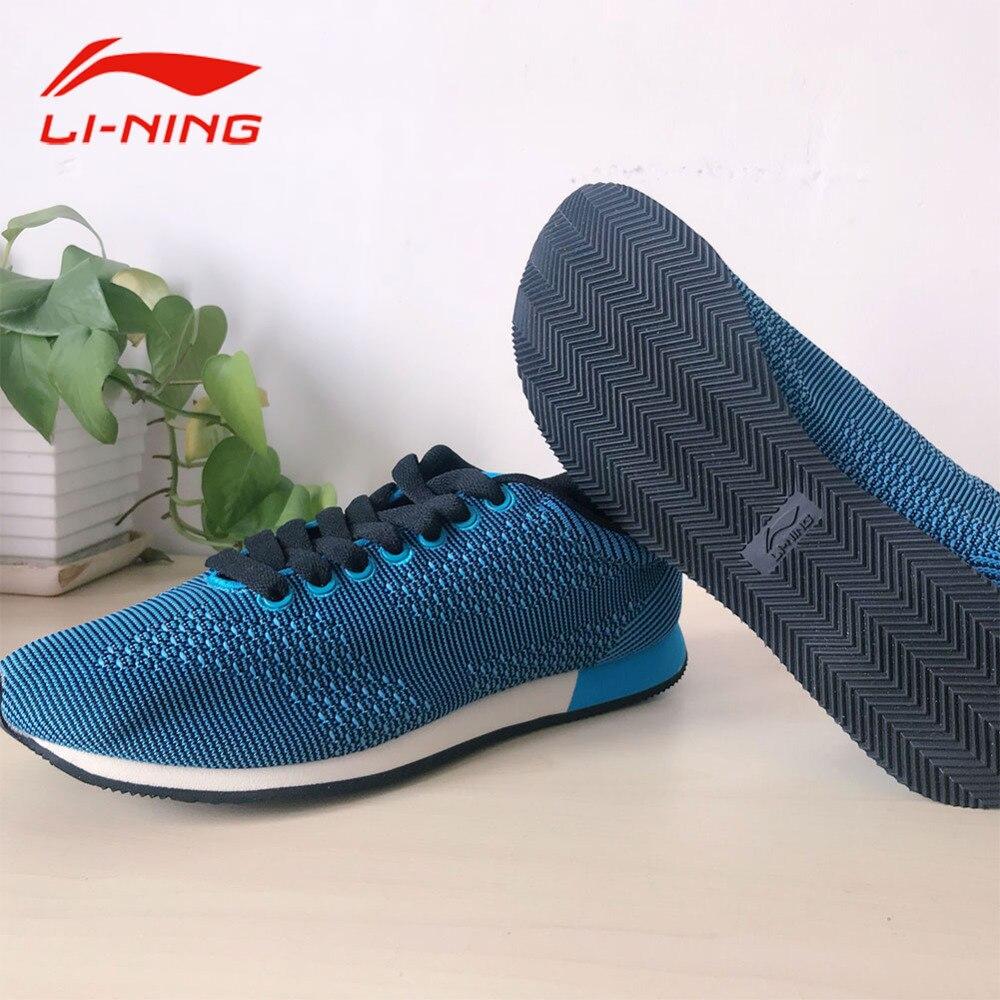 Li-Ning Men Comfortable Running Shoes Lace-Up Stability Cushioning Sports Sneakers ALCK143 original li ning men professional basketball shoes