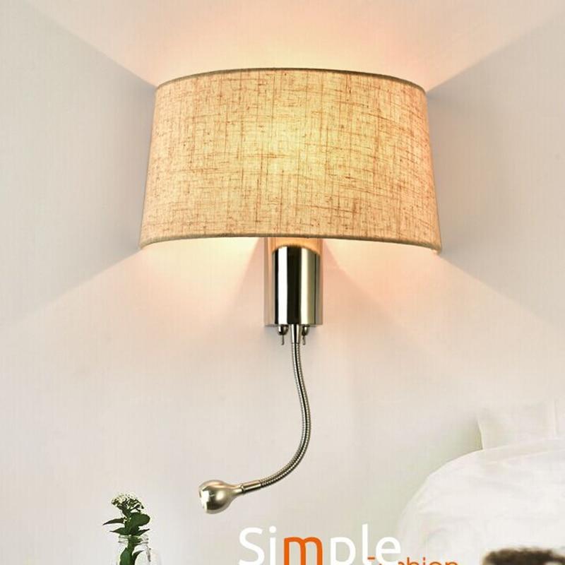Black White Bedside Wall Lamps 1w Led Spot Lighting Plumbing Hose Rocker Arm Reading Wall Lighting
