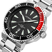 SINOBI Novas dos homens Esportes Mergulho Relógios de Genebra Relógio de Aço Inoxidável Relógio De Pulso Para Homens Marca de Luxo À Prova D' Água 007 Saat
