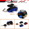 For YAMAHA MT-07 FZ-07 MT07 FZ07 2014 2015 2016 Motorcycle Accessories Helmet Lock Brake Master Cylinder Handlebar Clamp Blue