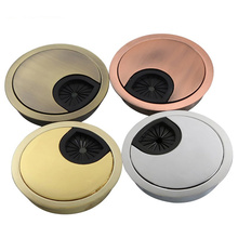 все цены на 35-80mm Round Wire Hole Cover Base Zinc Alloy PC Desk Table Grommet Cable Outlet Port Surface Line Box protection organizer онлайн