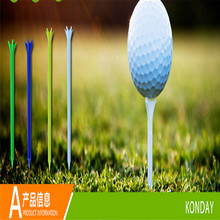 Retail High Quality 150pcs/5boxes Grown golf Tee Divot Tools Brand ABS Plastic Golf Pentagon Tees Golf Accessory
