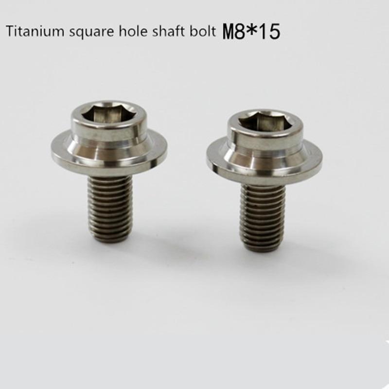 2pcs BMX BMX Bottom Brackets Titanium Bolt M8*15mm+ Dust Cover For Brompton Axle Accessories