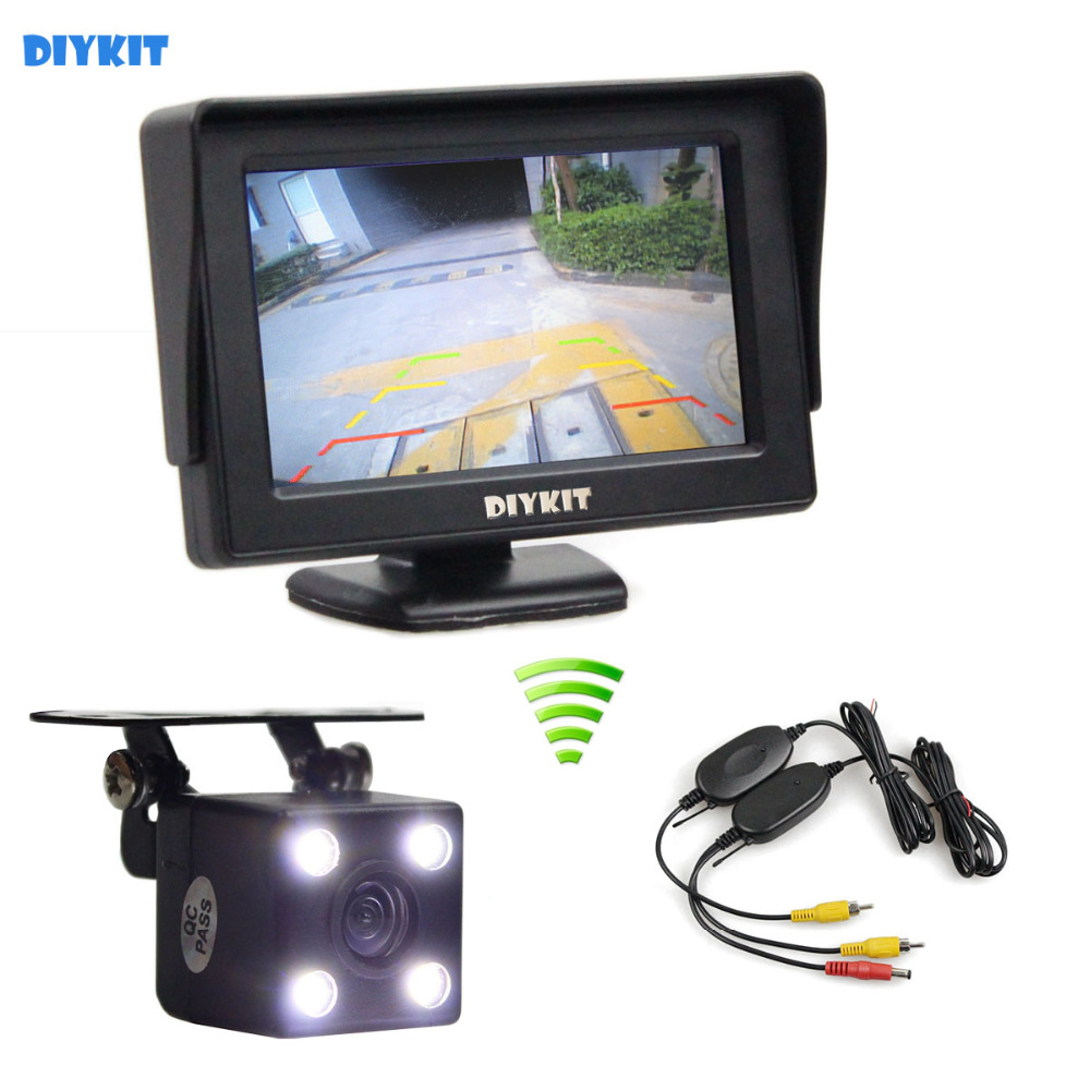 DIYKIT 4.3 Inch Video Car Monitor + HD LED Car Camera Rear