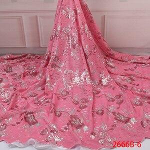 Image 4 - Бархатная кружевная ткань для платьев, новейшая нигерийская французская фатиновая кружевная ткань с пайетками, Высококачественная африканская кружевная ткань с блестками, для платьев, для вечеринок, на лето, 2019
