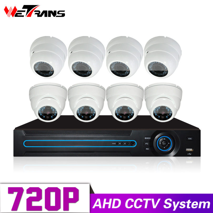 Surveillance Kit DIY P2P DVR 8CH 720P HD IR LED 20m Night Vision Indoor Camera Dome CCTV Security Camera System 8pcs hd cvi camera systems 1 0mp 720p 42pcs ir led 2 8 12mm lens security camera system outdoor night vision camera surveillance