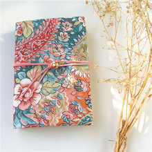 """""""Flora Pink"""" Beautiful Journal Notebook Diary Stationery Gift Replaceable Papers Japanese Style Linen Fabric Soft Cover"""