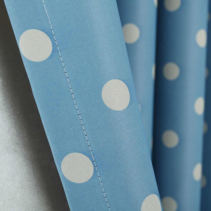 Topfinel Шторы с узорами горошков Детская комната Затемненные занавески для Гостиной Спальни Шторы для гостиной Милые шторы ткань