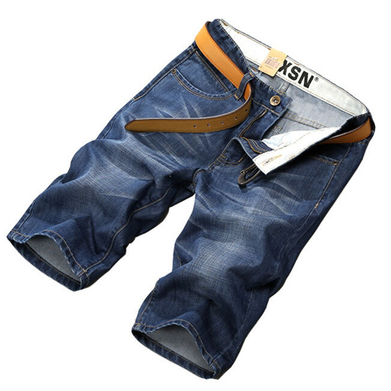 New High Quality Cotton Fashion Casual Slim Straight Short Jeans For Men,Denim Summer Jeans Men Shorts Plus Size 44 46 48 50(China)