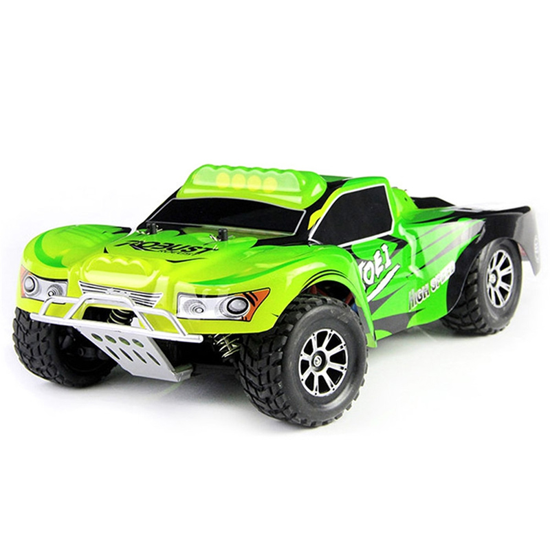 Original Wltoys RC Car A969 1/18 Scale Toys 2.4G 4WD 50km/h RC Drift Short Course Long Distance Control 4-wheel Shock Absorbe dongxin mercedes benz sl65 speed remote control steering wheel 1 18 car drift charge black