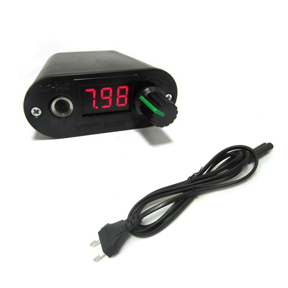 Free Shipping BJT Mini Compact Tattoo Power Supply For Tattoo Machine Gun