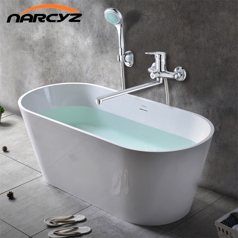 Narcyz Bathroom Mixer 35cm stainless steel long nose outlet brass shower faucet XT343