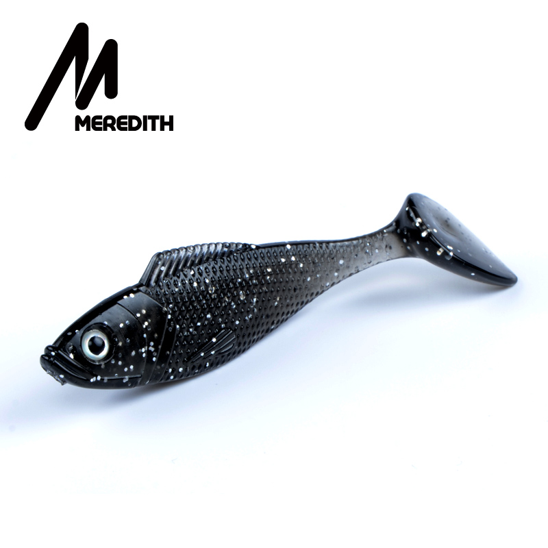 Meredith 10pcs/lot Fishing Tackle Bait 10 Colors Fishing Soft Lures Mermaid Tail 9g/90mm Free Shipping JX61-09-10
