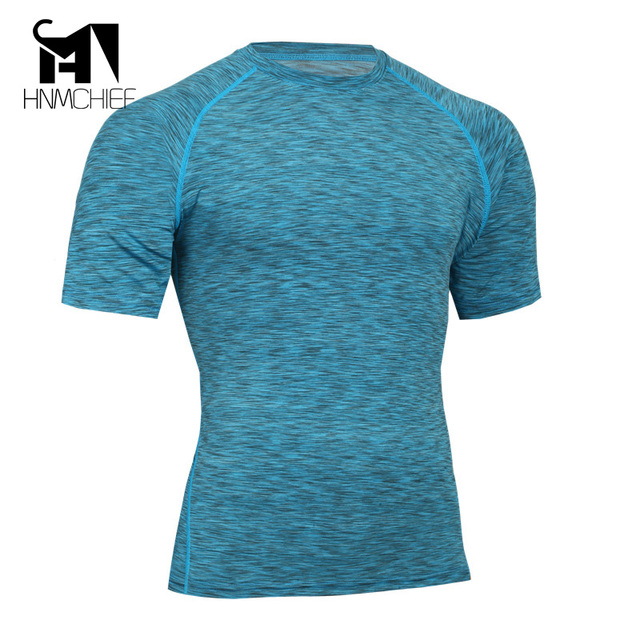 2017 Men tight-fitting T-shirt Men's Slim Corset Short-Sleeve Breathable Stretch Thermal Underwear Men's Tight-Fitting shirt