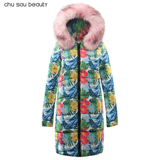 7d2f98c51 US $20.4 85% OFF Winter Female Long Jacket 2018 Winter Coat Women Fake Fur  Collar Warm Woman Parka Outerwear Down Jacket Winter Jacket Women Coat-in  ...