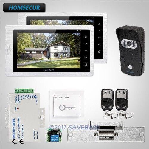 Homsecur 7 Video Door Entry Security Intercom With Black Camera