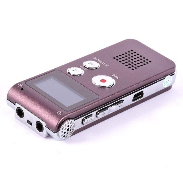 8 GB Spy Mini USB Flash de Audio Digital Grabadora de Voz Hr Dictáfono Reproductor de MP3 Portátil Pen Drive Grabadora