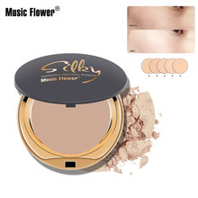 Music Flower New Face Powder Fabulous Smooth Pressed Powder Face Makeup Maquiagem Batom Cosmetics Makeup Natural Powder iman cosmetics luxury pressed powder earth dark