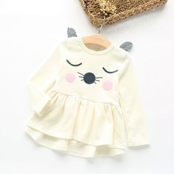 Cockcon brand autumn children s clothing korean style girl s cartoon cat pure cotton dress baby.jpg 250x250