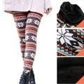 2016 chegam Novas Cintura Alta Qualidade Outono Inverno Mulheres Impresso Lady Além Disso Casual tamanho Grande de veludo grosso Leggings De Lã Quente calças
