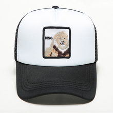 New Brand Animal Lion King Printing Caps Snapback Trucker Mens Dad Cap Summer Outdoors Adjustable Breathable Mesh Hat