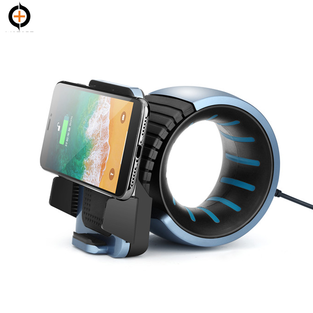 Portable qi mobile phone charger 10w with led night light Qi Wireless Charger for iPhone X, iPhone 8/8+, Samsung S9/9+