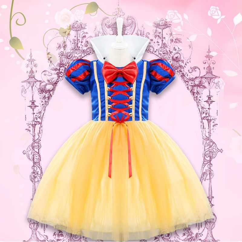 c720351e767 Princess Snow White Baby Dress Newborn Baby Girl First Birthday Outfits  Role-play Party Wear
