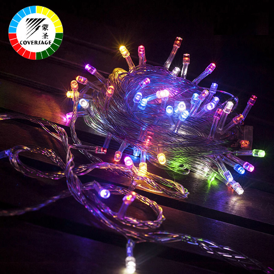 Coversage 20M 200 Led String Fairy Lights AC 220V Lámpara decorativa de día festivo Perlas al aire libre Árbol de navidad Luces de cortina