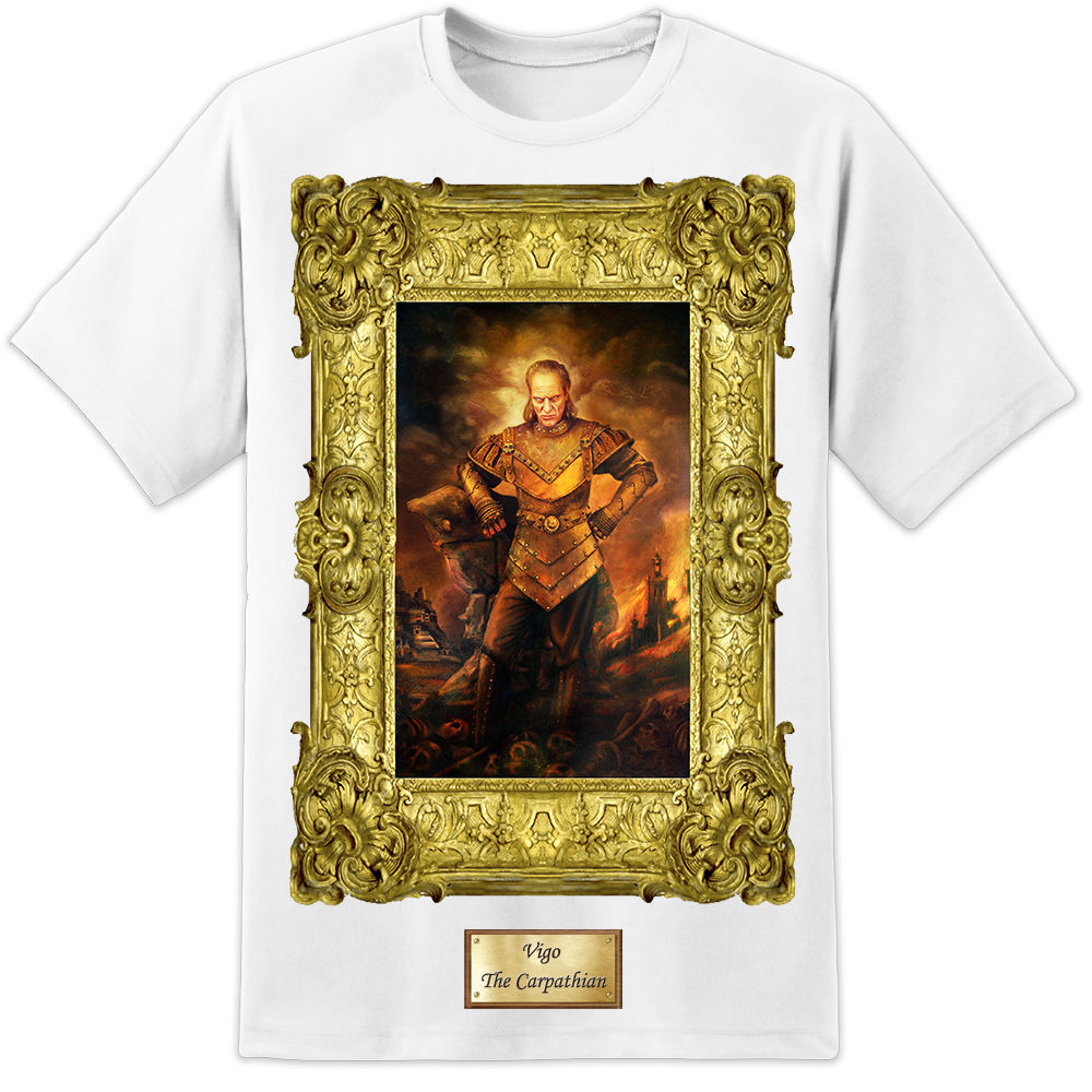 Mens Vigo Ghostbusters Painting T Shirt Film Retro Classic Original DVD Gozer Print T-Shirts