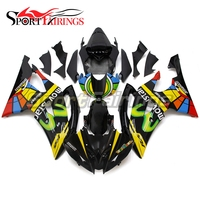 Black Yellow Body Kits For Yamaha YZF 600 R6 2008 2015 YZF R6 ABS Motorcycle Fairing Kit Injection Molding Full Cowlings New