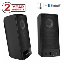 Avantree Desktop Bluetooth Computer Speakers, Wireless & Wired 2-in-1, Superb Stereo Audio, AC Powered 3.5mm / RCA Multimedia