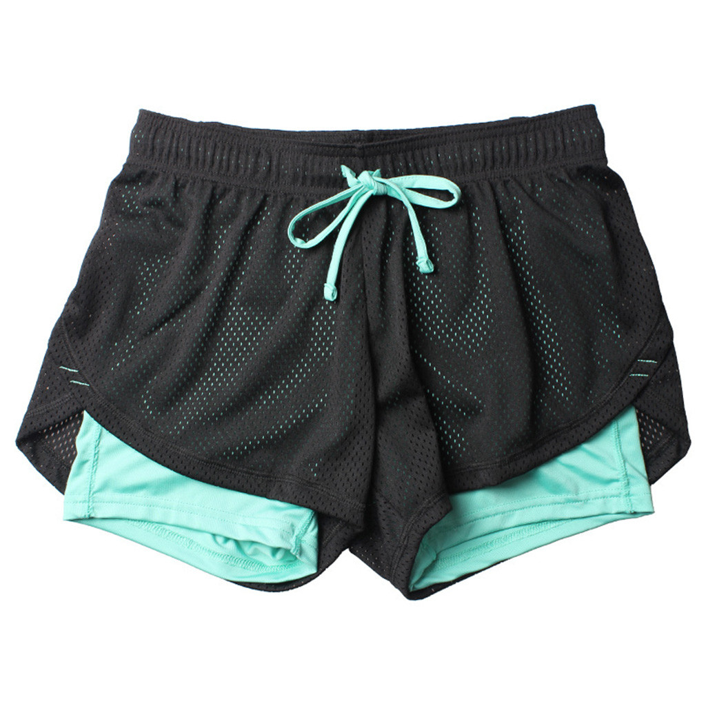 New Arrival Gym women   Shorts   high waist Summer Women's Sports Fitness Anti Emptied Quick-dry   short   feminino Outdoor shortsc0404