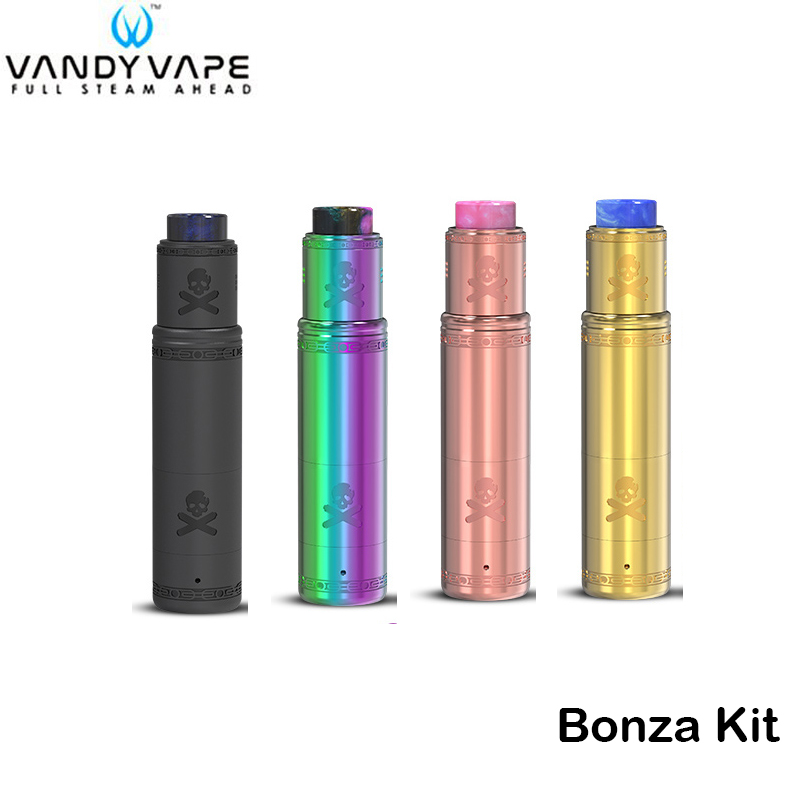 D'origine Vandy Vaporisateur Bonza Kit Bonza MOD Tube avec Bonza V1.5 RDA Vandyvape Cigarette Électronique Vaporisateur Pen Fit 18650/20700 Batterie