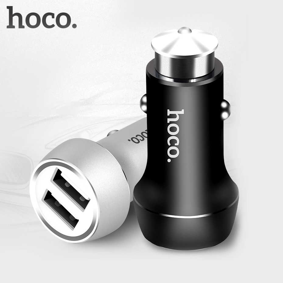 HOCO Z7 Car Charger Dual USB for iPhone iPad Xiaomi Samsung Mobile Smart Phone Adapter 2 USB 2.4A Universal Double Port Charging