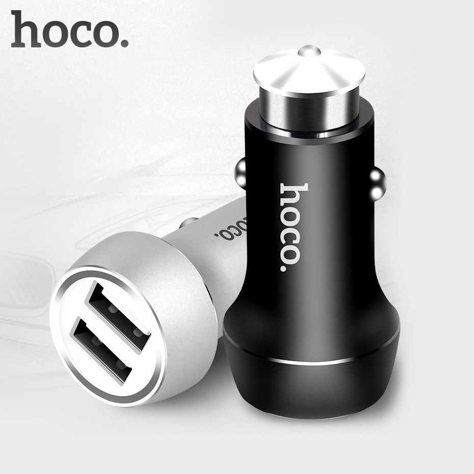 Cellphones & Telecommunications Car Chargers Systematic Hoco Z7 Car Charger Dual Usb For Iphone Ipad Xiaomi Samsung Mobile Smart Phone Adapter 2 Usb 2.4a Universal Double Port Charging