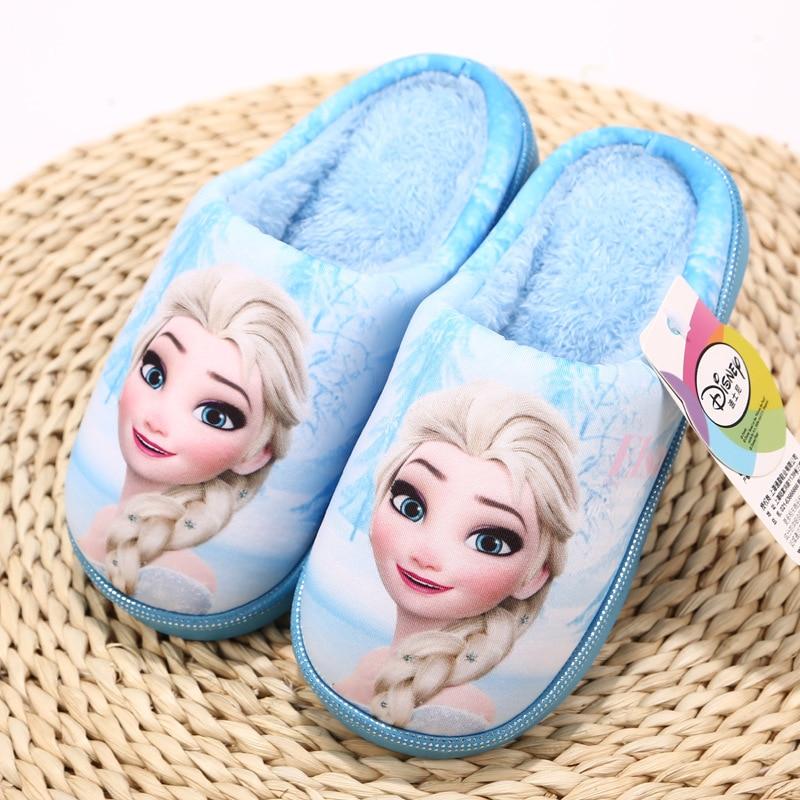 416a2949cd0 New Anan Elsa Shoes Girls Slippers Home Cartoon Winter Shoes Kids Snow Queen  3D Plush Slippers High quality winter warm shoes-in Slippers from Mother    Kids ...
