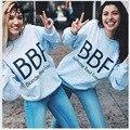 Толстовки Женщины С Длинным Рукавом Брюнет Beste Vrienden BBF BFF Блондинка Vriendinnen Beste Vriend Печати Harajuku Толстовка RS005