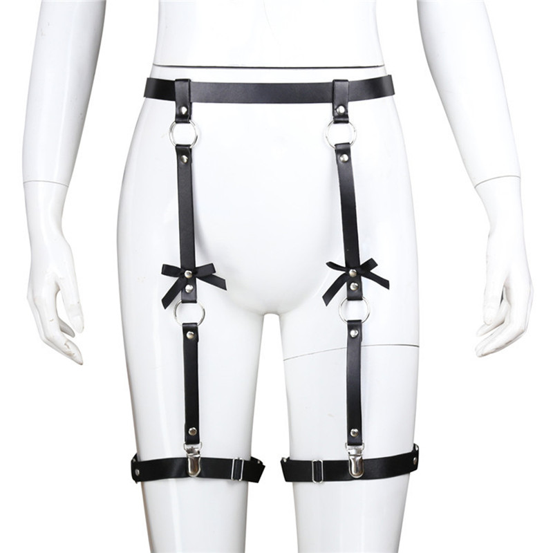 Apparel Accessories Honest Fullyoung Handmade Punk Rock Leather Garter Belts Adjustable Leg Ring With Suspenders Straps Pu Leather Harness Fashion Women