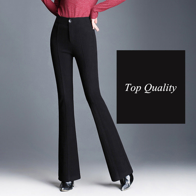 New Wide Leg Pants Women Trousers Loose High Waist Spring Autumn Elastic Waist Casual Party Club Pantalones