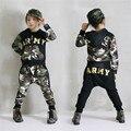 2017 Весной новые мальчики комплект одежды камуфляж мальчик спортивные костюмы детская одежда костюм хлопка мальчиков костюм подростковая одежда детей