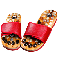 Pebbled Foot Massage Slippers Female Male Acupoint Magnetite Tai Chi Tai Chi Health Shoes Summer Indoor