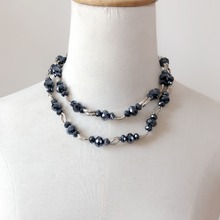 Faceted Beads Long Necklace