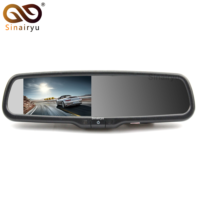 Sinairyu 4.3 LCD OEM Car Rearview Mirror Monitor Parking And Reverse Assist With LED Night Vision Rear View Back Up Car Camera sinairyu car parking assistance system 7 mp5 rearview mirror monitor support sd usb fm radio with night vision rear view camera