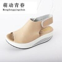 2017 New Super Star Brand Women Shoes Summer Platform Wedges Women Sandals Casual Peep Toe Swing