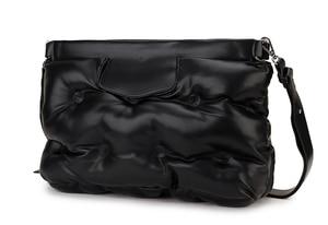 Image 2 - 높은 품질 아래로 공간 베개 Pu 가죽 Crossbody 메신저 가방 어깨 가방 지갑과 핸드백 여성용 클러치 백 봉투