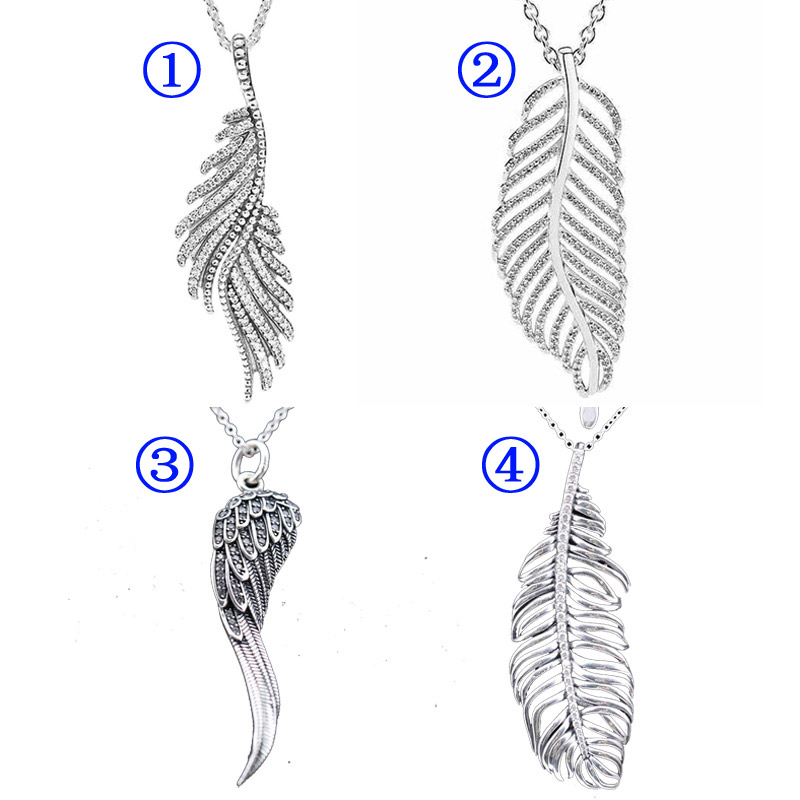 9630c4e743df6 Light as a Majestic Feathers Eagle Wings Pine Needle Leave Necklace ...